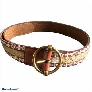 LUCKY BRAND leather belt Embroidered